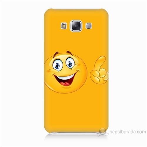Teknomeg Samsung Galaxy E7 Kapak Kılıf Emoji Baskılı Silikon