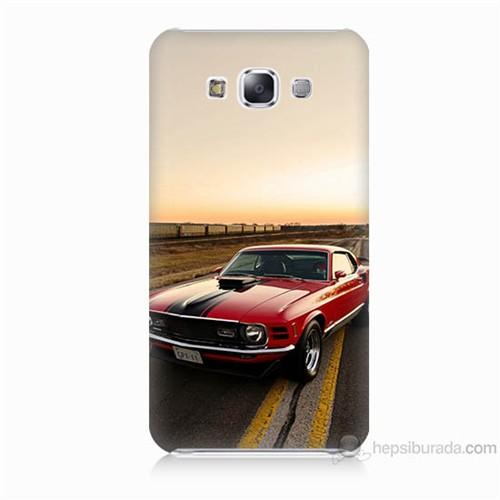 Teknomeg Samsung Galaxy E7 Kapak Kılıf Araba Baskılı Silikon