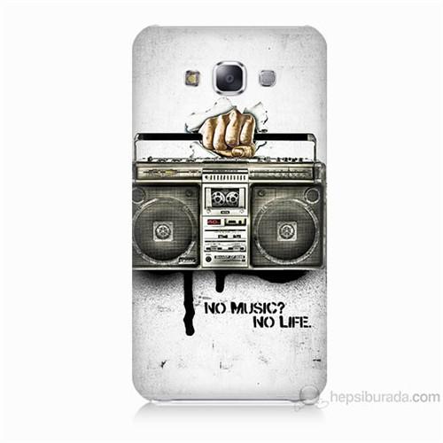 Teknomeg Samsung Galaxy E7 Kapak Kılıf Müzik Hayattır Baskılı Silikon