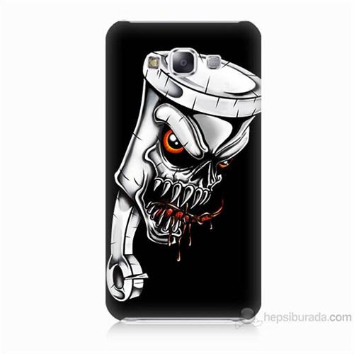 Teknomeg Samsung Galaxy E7 Kapak Kılıf Piston Baskılı Silikon