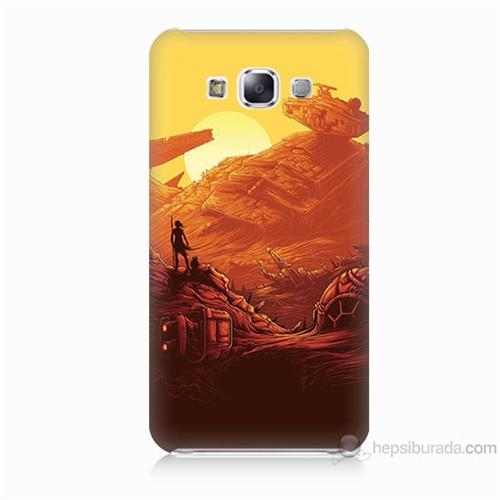 Teknomeg Samsung Galaxy E7 Kapak Kılıf Star Wars 7 Baskılı Silikon