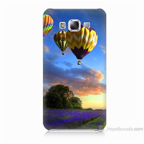 Teknomeg Samsung Galaxy E7 Kapak Kılıf Uçan Balon Baskılı Silikon