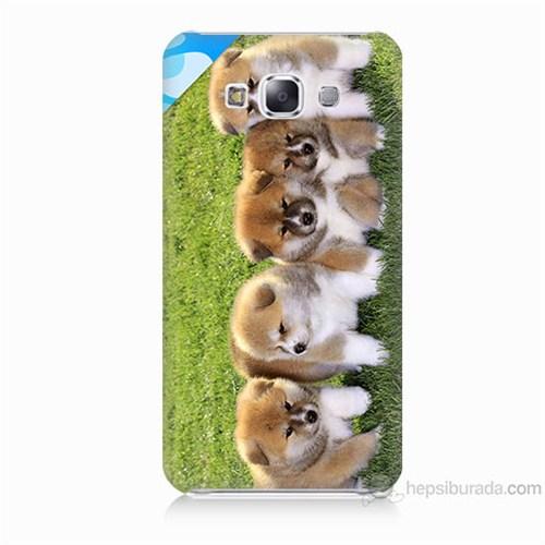 Teknomeg Samsung Galaxy E7 Kapak Kılıf Sevimli Köpek Baskılı Silikon