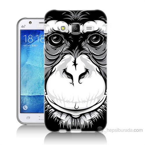 Teknomeg Samsung Galaxy J7 Kılıf Kapak Maymun Baskılı Silikon