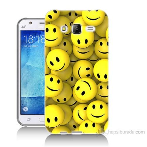Teknomeg Samsung Galaxy J7 Kapak Kılıf Smile Baskılı Silikon