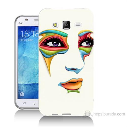 Teknomeg Samsung Galaxy J7 Kapak Kılıf Face Baskılı Silikon