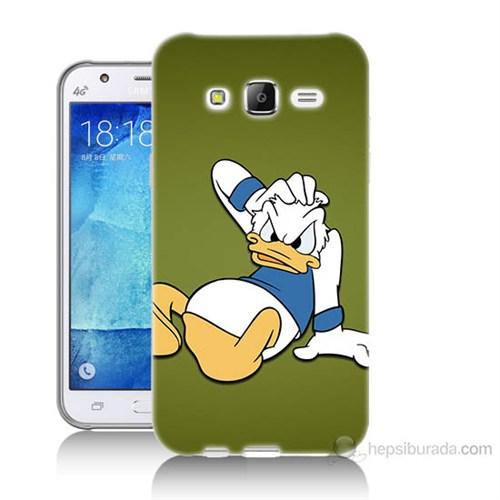 Teknomeg Samsung Galaxy J7 Kapak Kılıf Donald Dock Baskılı Silikon