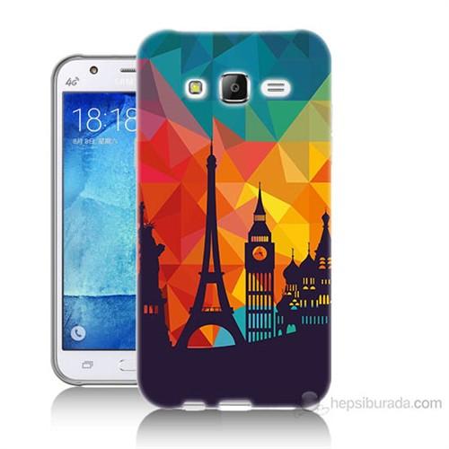 Teknomeg Samsung Galaxy J7 Kapak Kılıf Görkemli Yapılar Baskılı Silikon