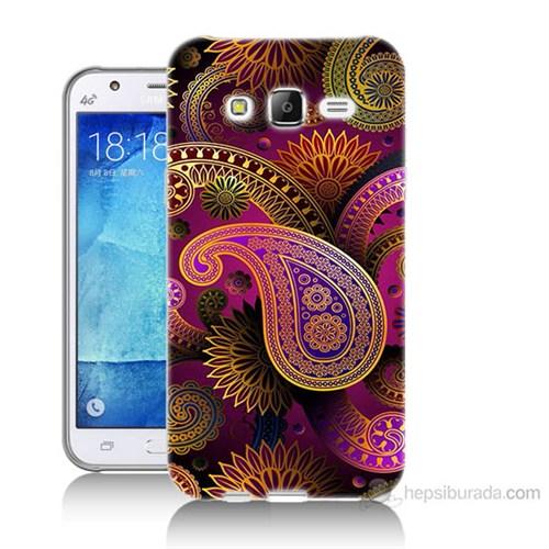Teknomeg Samsung Galaxy J7 Kapak Kılıf İşlemeli Damla Baskılı Silikon