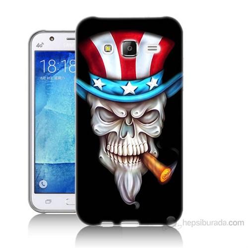 Teknomeg Samsung Galaxy J7 Kapak Kılıf Sam Amca Baskılı Silikon