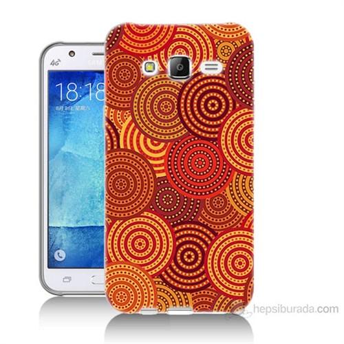 Teknomeg Samsung Galaxy J7 Kapak Kılıf Daireler Baskılı Silikon