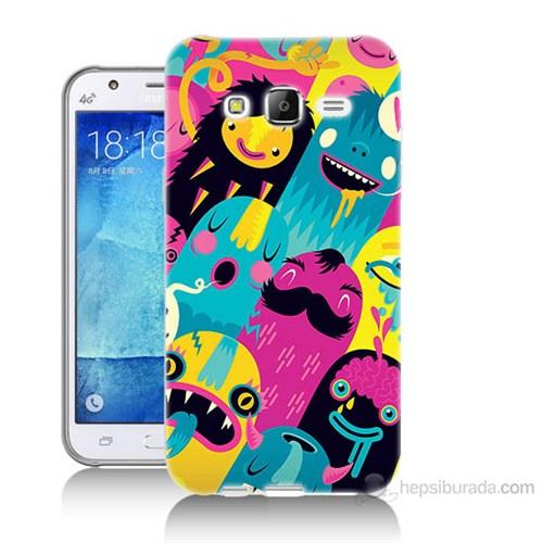 Teknomeg Samsung Galaxy J7 Kapak Kılıf Sevimli Karakterler Baskılı Silikon