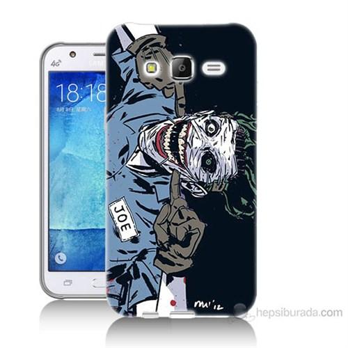 Teknomeg Samsung Galaxy J7 Kapak Kılıf Joe Joker Baskılı Silikon