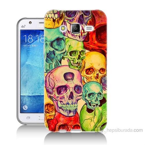 Teknomeg Samsung Galaxy J7 Kapak Kılıf Kafatası Krallığı Baskılı Silikon