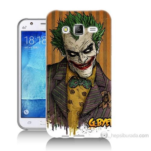 Teknomeg Samsung Galaxy J7 Kapak Kılıf Joker Baskılı Silikon