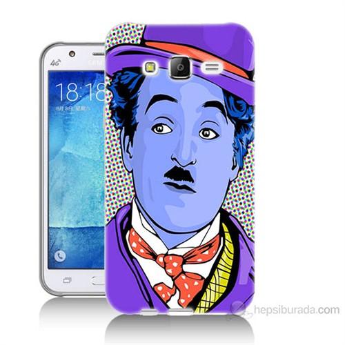 Teknomeg Samsung Galaxy J7 Kapak Kılıf Charlie Chaplin Baskılı Silikon