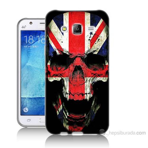 Teknomeg Samsung Galaxy J7 Kapak Kılıf İngiltere Baskılı Silikon