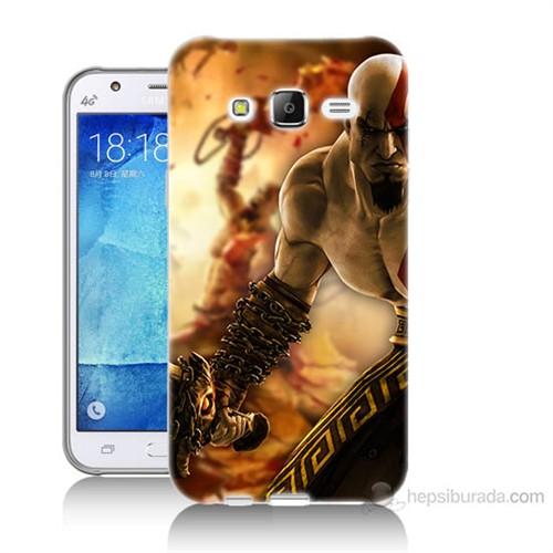 Teknomeg Samsung Galaxy J7 Kapak Kılıf God Of War Baskılı Silikon