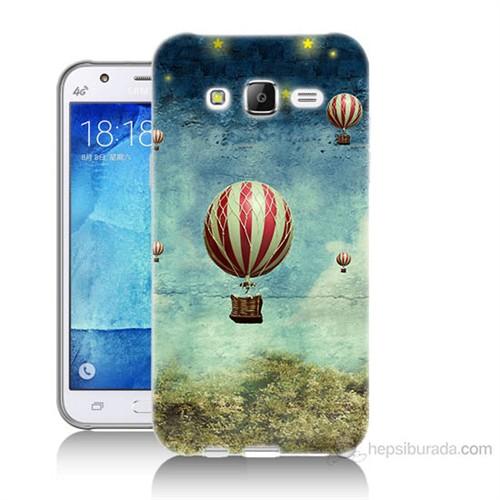Teknomeg Samsung Galaxy J7 Kapak Kılıf Uçan Balon Baskılı Silikon