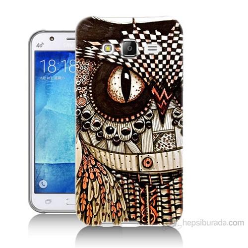 Teknomeg Samsung Galaxy J7 Kapak Kılıf Baykuş Baskılı Silikon