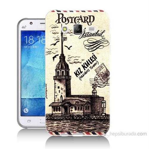 Teknomeg Samsung Galaxy J7 Kapak Kılıf Kız Kulesi Baskılı Silikon