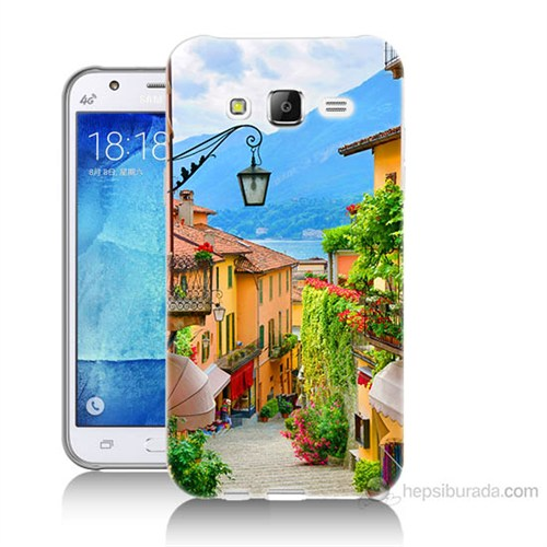 Teknomeg Samsung Galaxy J7 Kapak Kılıf Balkon Manzara Baskılı Silikon