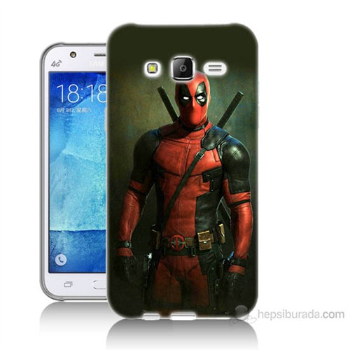 Teknomeg Samsung Galaxy J7 Kapak Kılıf Deadpool Baskılı Silikon