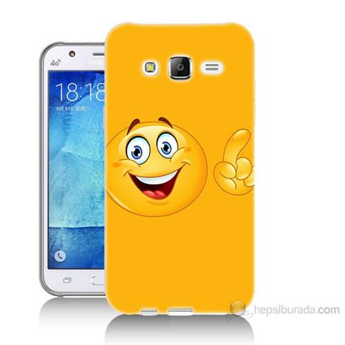 Teknomeg Samsung Galaxy J7 Kapak Kılıf Emoji Baskılı Silikon