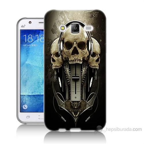 Teknomeg Samsung Galaxy J7 Kapak Kılıf İskeletler Baskılı Silikon