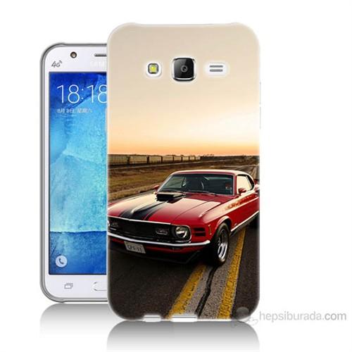 Teknomeg Samsung Galaxy J7 Kapak Kılıf Araba Baskılı Silikon