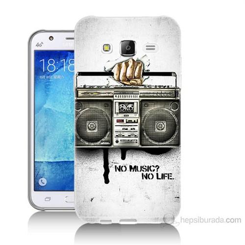 Teknomeg Samsung Galaxy J7 Kapak Kılıf Müzik Hayattır Baskılı Silikon