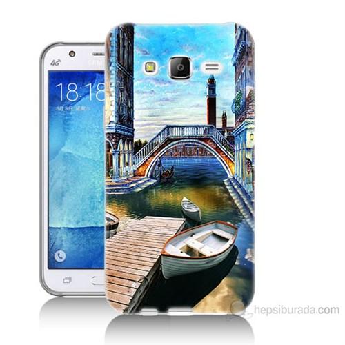 Teknomeg Samsung Galaxy J7 Kapak Kılıf Tekneler Tablo Baskılı Silikon