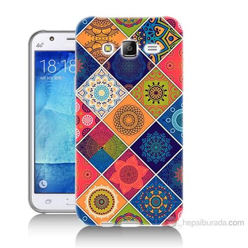 Teknomeg Samsung Galaxy J7 Kapak Kılıf Pitikare Baskılı Silikon