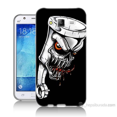Teknomeg Samsung Galaxy J7 Kapak Kılıf Piston Baskılı Silikon