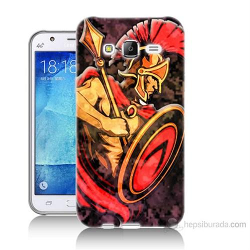 Teknomeg Samsung Galaxy J7 Kapak Kılıf Gladyatör Baskılı Silikon