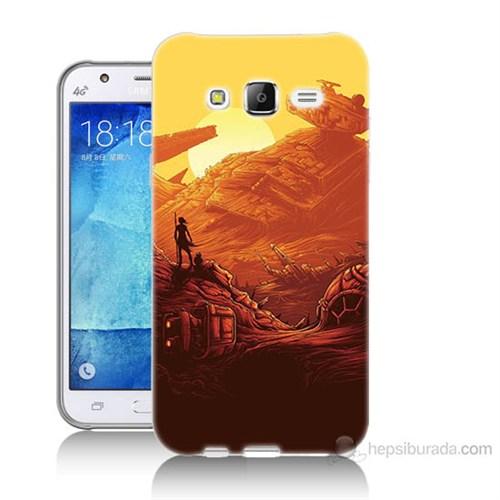 Teknomeg Samsung Galaxy J7 Kapak Kılıf Star Wars 7 Baskılı Silikon