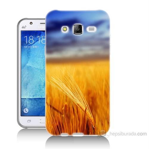 Teknomeg Samsung Galaxy J7 Kapak Kılıf Sarı Mavi Baskılı Silikon