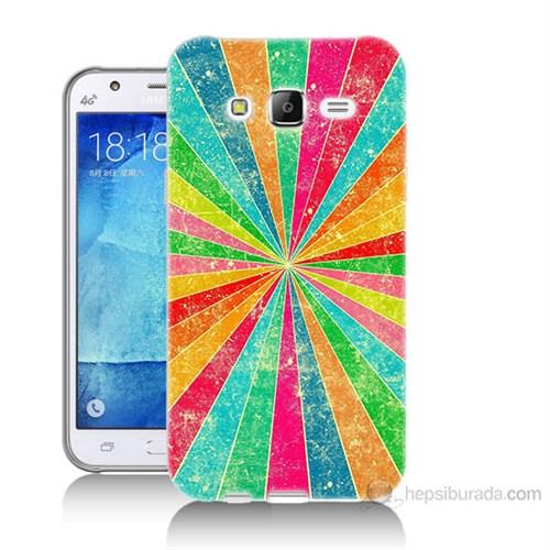 Teknomeg Samsung Galaxy J7 Kapak Kılıf Renk Efekti Baskılı Silikon