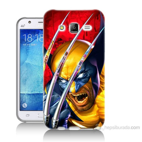 Teknomeg Samsung Galaxy J7 Kapak Kılıf Wolverin Baskılı Silikon
