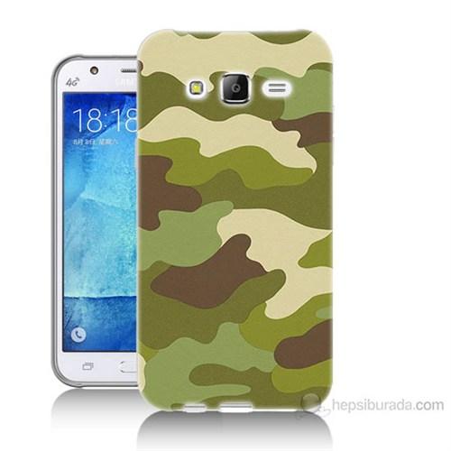 Teknomeg Samsung Galaxy J7 Kapak Kılıf Kamufulaj Baskılı Silikon