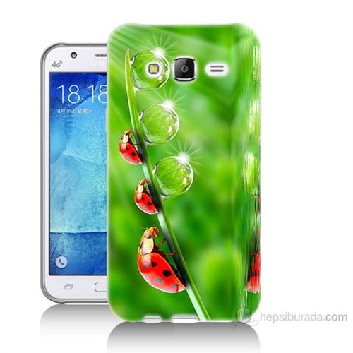 Teknomeg Samsung Galaxy J7 Kapak Kılıf Uğur Böcekleri Baskılı Silikon