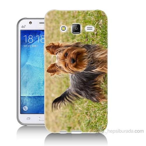 Teknomeg Samsung Galaxy J5 Kapak Kılıf Terier Baskılı Silikon