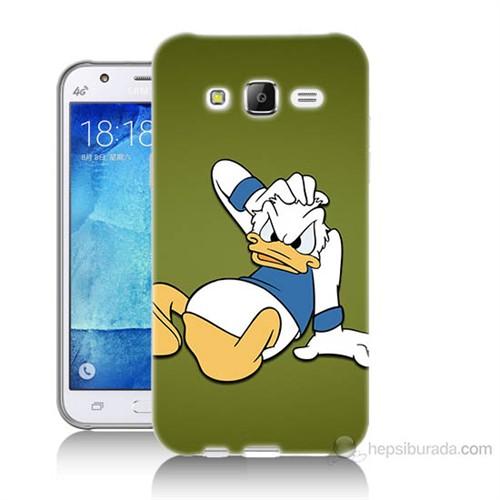 Teknomeg Samsung Galaxy J5 Kapak Kılıf Donald Dock Baskılı Silikon