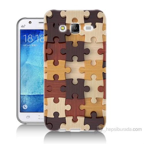 Teknomeg Samsung Galaxy J5 Kapak Kılıf Puzzle Baskılı Silikon