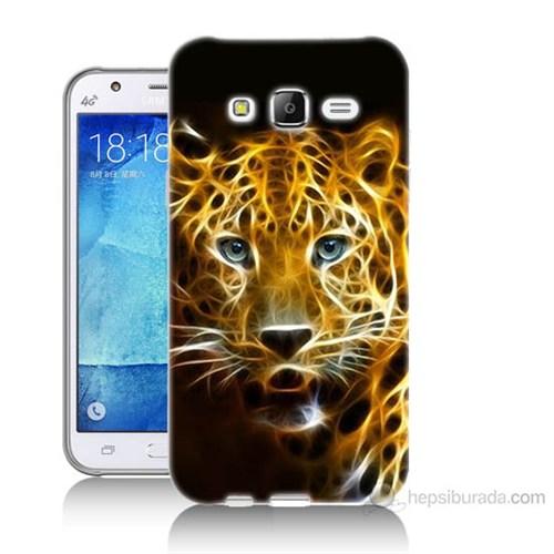 Teknomeg Samsung Galaxy J5 Kapak Kılıf Panter Baskılı Silikon