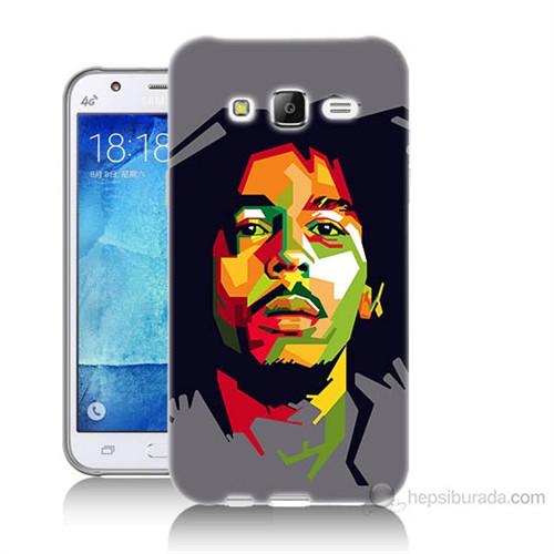 Teknomeg Samsung Galaxy J5 Kapak Kılıf Bob Marley Baskılı Silikon