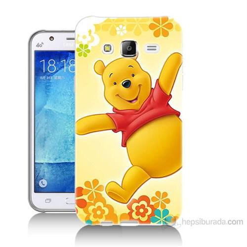 Teknomeg Samsung Galaxy J5 Kapak Kılıf Ayı Winnie Baskılı Silikon