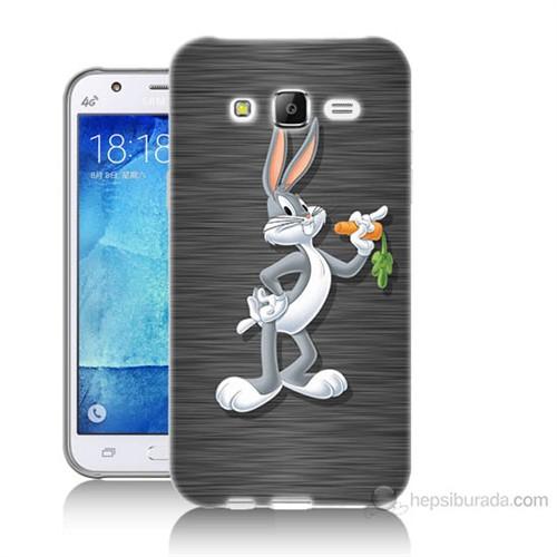 Teknomeg Samsung Galaxy J5 Kapak Kılıf Bugs Bunny Baskılı Silikon