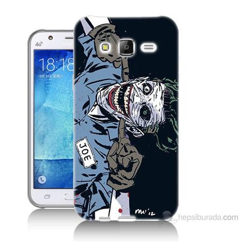 Teknomeg Samsung Galaxy J5 Kapak Kılıf Joe Joker Baskılı Silikon