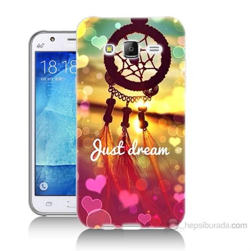 Teknomeg Samsung Galaxy J5 Kapak Kılıf Just Dream Baskılı Silikon